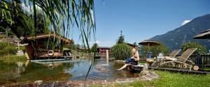 Der Gartenbereich im Hotel Seetal Zillertal