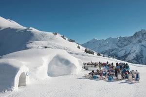 Die White Lounge oberhalb von Mayrhofen - Übernachten im Iglu