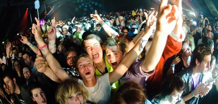 Partystimmung vom Snowbombing 2014 Mayrhofen