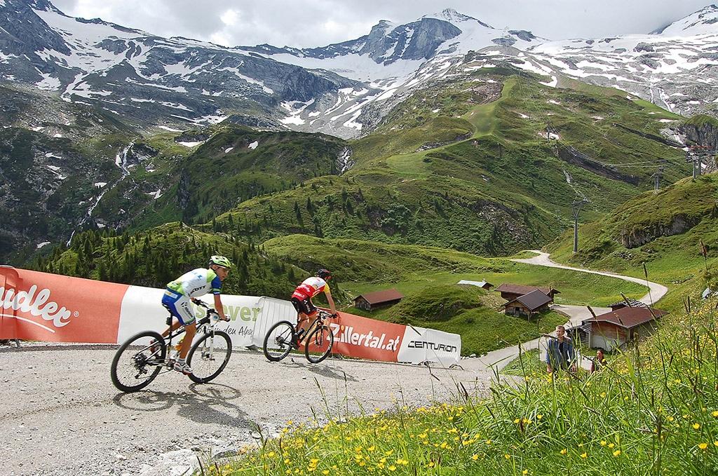 Schlussanstieg Zillertal Bike Challenge 2015