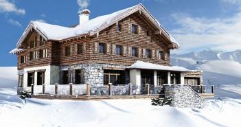 Das Spannagelhaus im Skigebiet Hintertux
